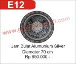 E12 Jam Bulat Alumunium Silver - Graha Kaligrafi – Kaligrafi ISLAM – Kaligrafi Arab